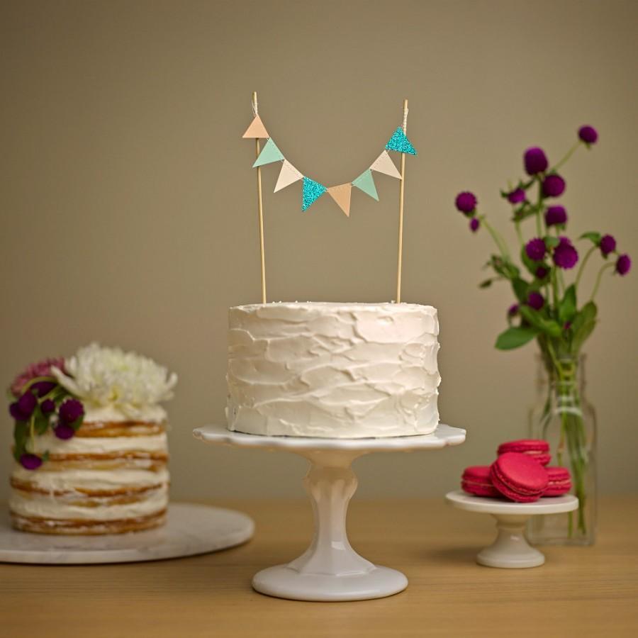 Mariage - Custom Cake Bunting - Wedding Cake Topper