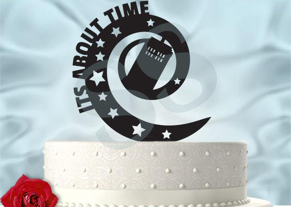 Mariage - Doctor Who Inspired Wedding It's About Time Tardis Dr Who Inspired Wedding Cake Topper