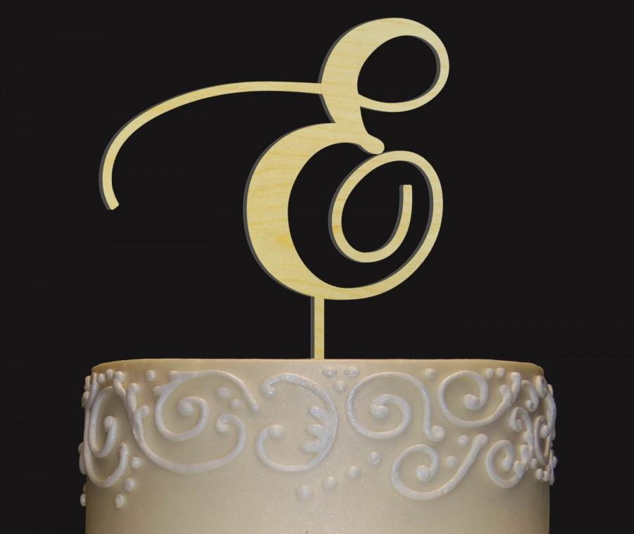 Свадьба - Custom Elegant Rustic Cake Topper - Personalized Monogram Initial Letter Topper - Any Occasion Topper - Bridal Shower-Wedding-Anniversary-BD