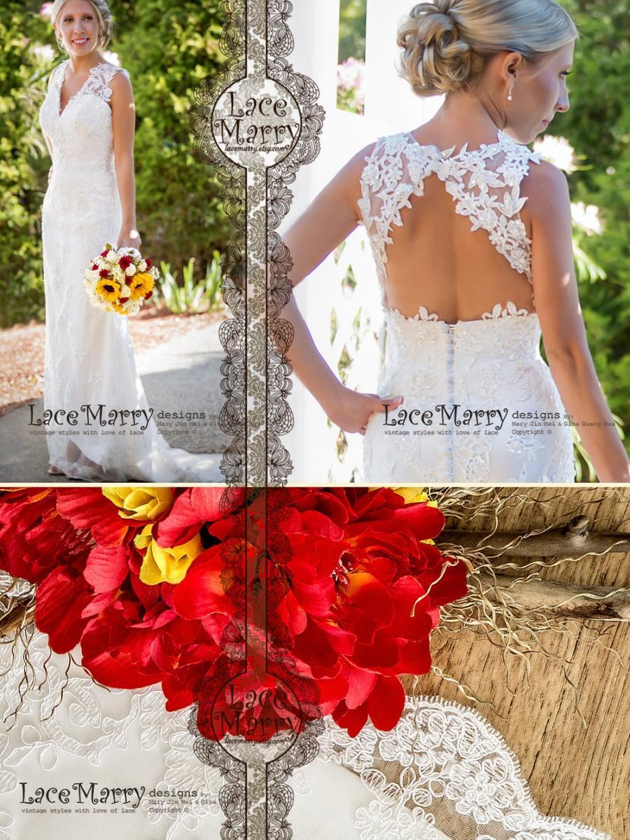Boho Lace Wedding Dress Beach Wedding Dresses Summer Wedding Dress