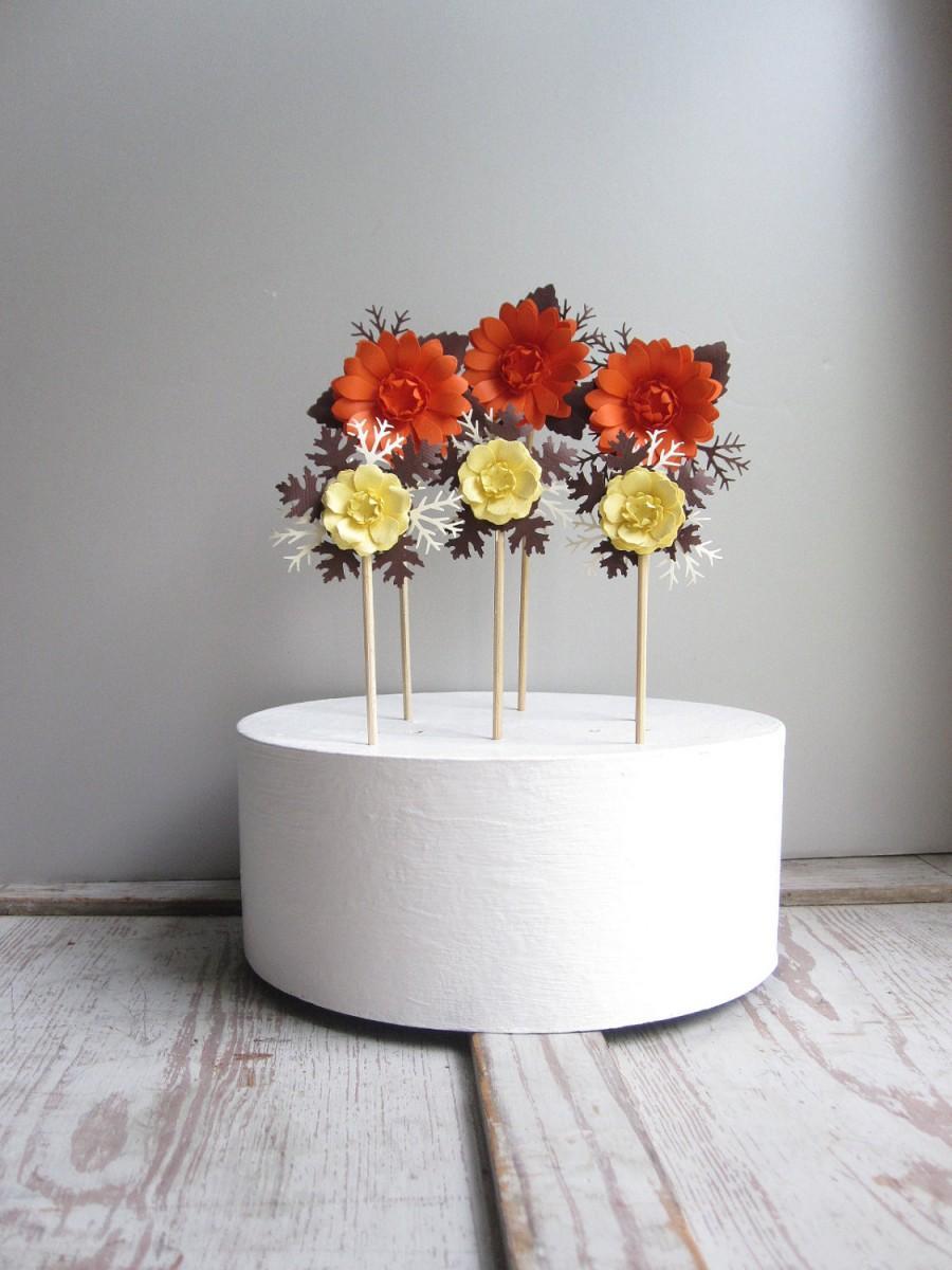 Свадьба - Custom Paper Flower Cake Decorations