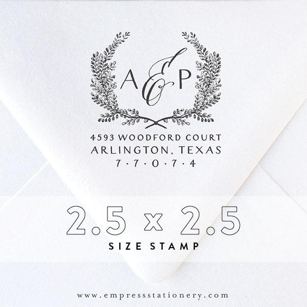 Mariage - return Address Stamp No. 8