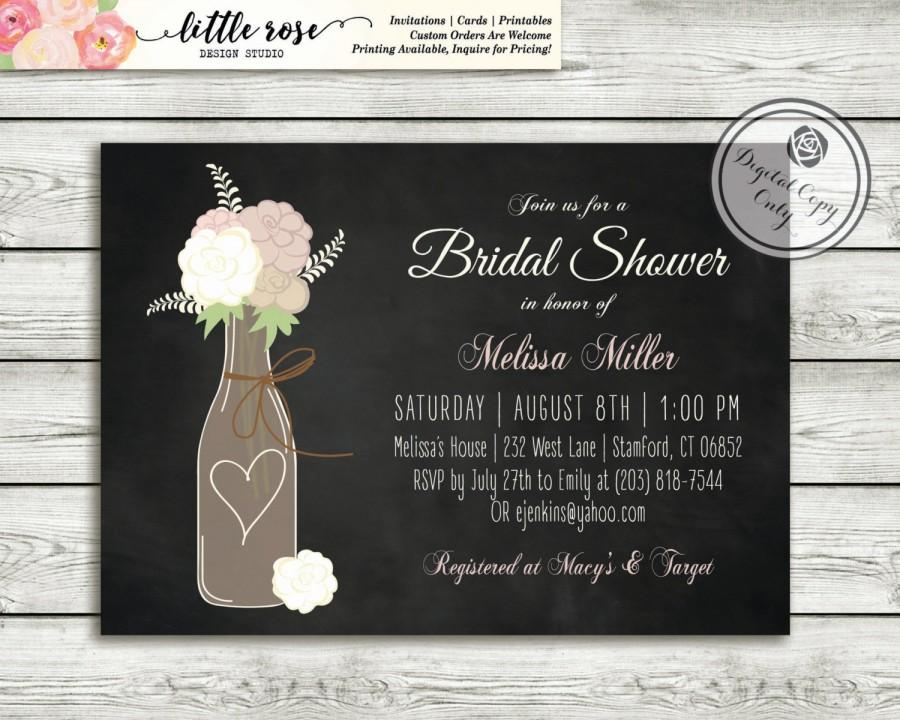 wine bridal shower invitation wedding shower invite wine bottle