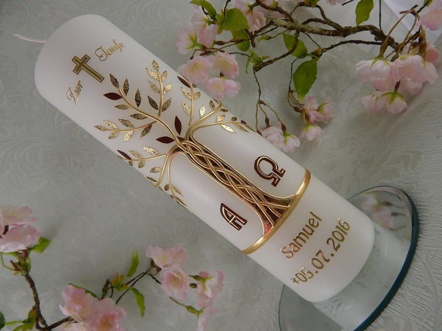 Свадьба - Baptism Candle Tree of Life - christening - baptism - baptism candles - personalised candles - Christening gifts