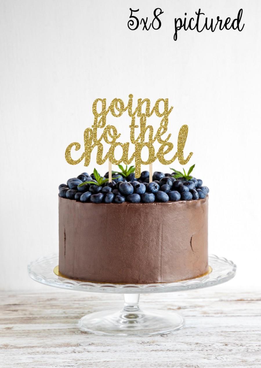 Свадьба - Engagement Cake Topper - Glitter Engagement Cake Topper - going to the chapel cake topper - Engagement Party Cake - Wedding Cake Topper