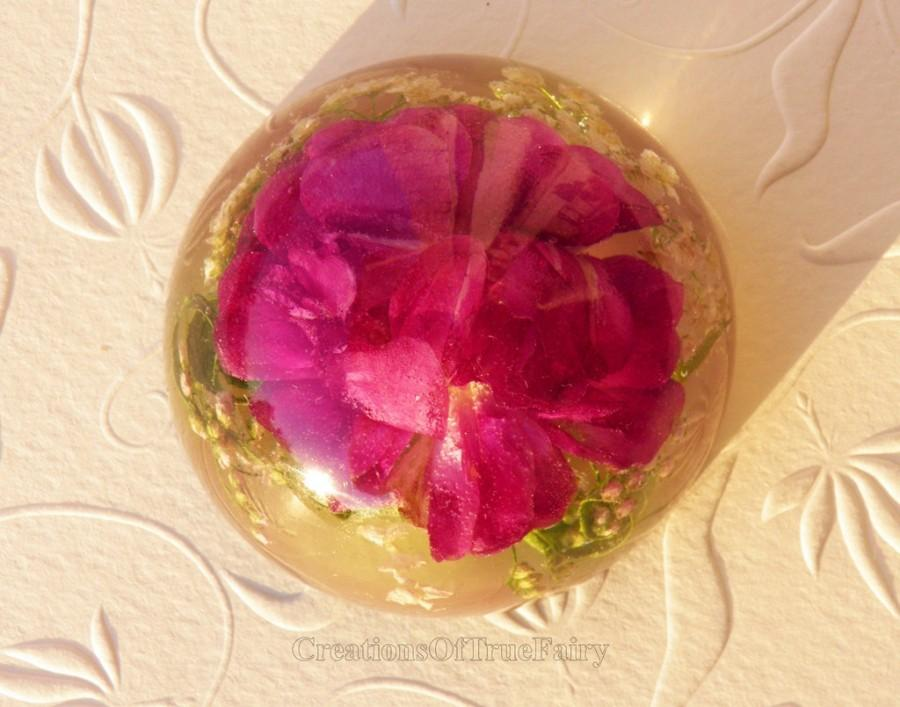 Mariage - Pink rose paperweight Elegant present for her wedding Gift for bridesmaid Unusual floral table decor Fine tender gift Ihappywhenyouhappy 61