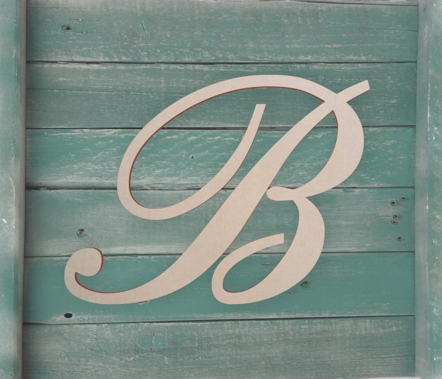 unfinished wooden letter large or small unfinished cursive wooden letter perfect for crafts diy weddings sizes 1 to 42