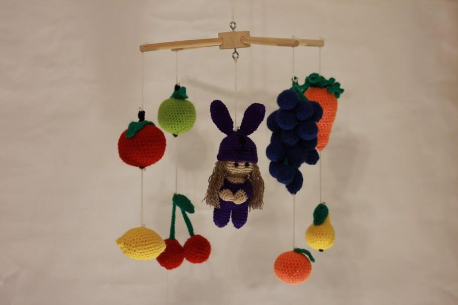 Mariage - Baby Mobile Crochet Crib Mobile Crochet Baby Mobiles Hanging Bunny Easter Baby Mobile Woodland Fruit Vegetable Nursery Girl Boy New Born