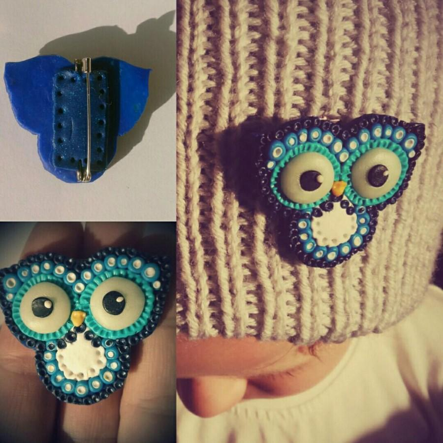Mariage - Brooch - Funny owl - Owl brooch - I love owl - Owl - Jewellery - Owl jewelry - Owl lover gift - Handmade owl jewelry - Funny owl jewelry