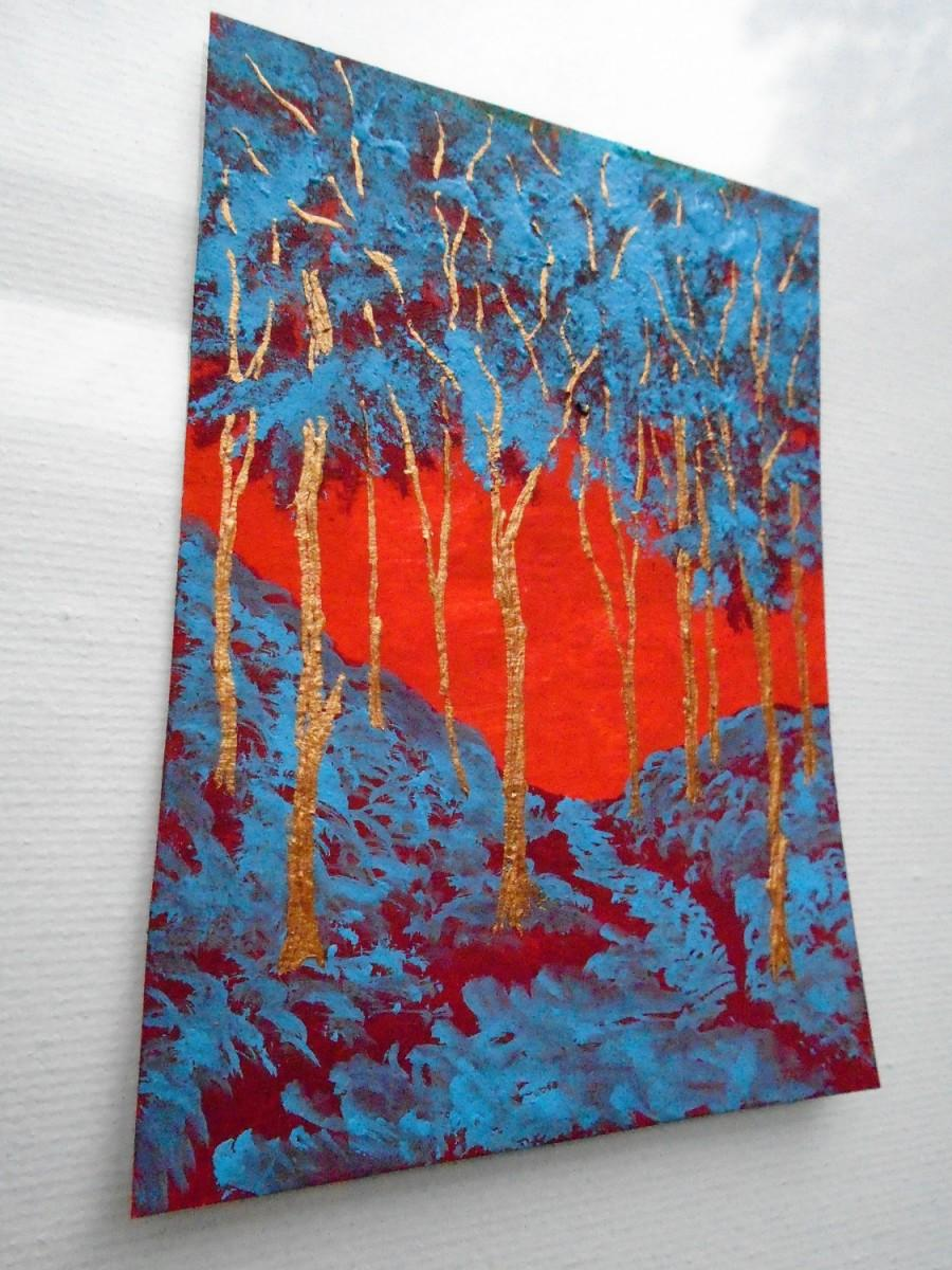 "Mariage - Twilight Woods #212 (ARTIST TRADING CARDS) 2.5"" x 3.5"" by Mike Kraus"