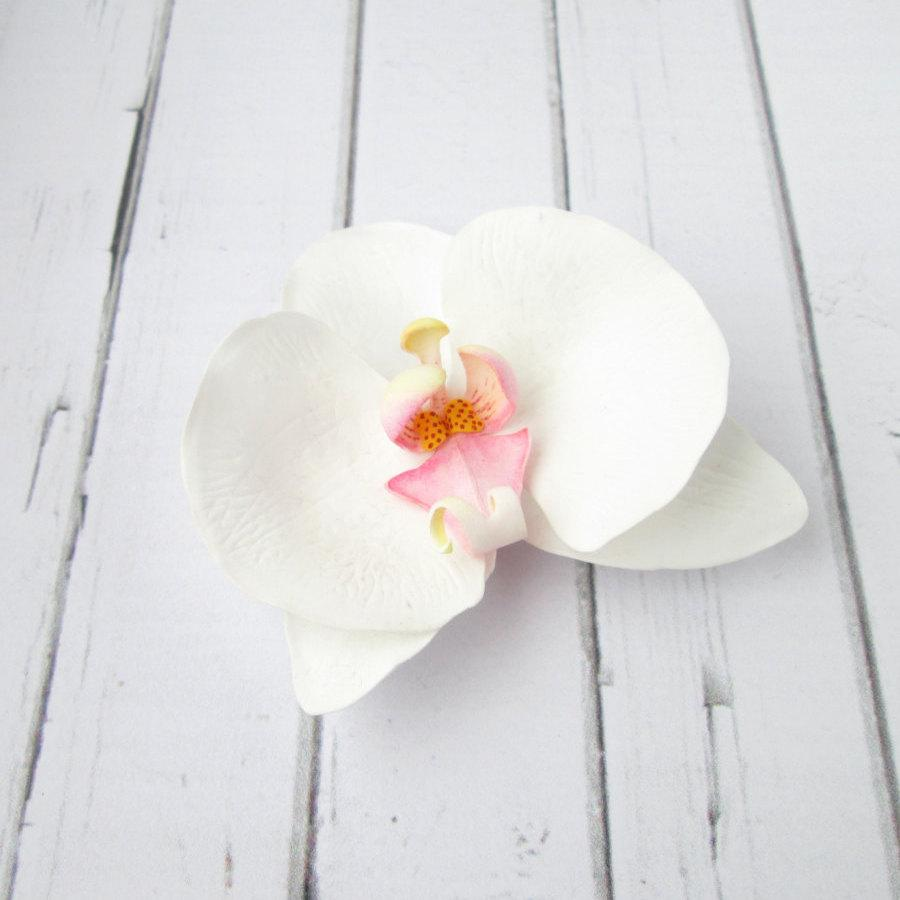 Wedding - Orchid Hairpin - Wedding Flower Hair Accessories - Flowers Hair Pin - Foam handmade flowers hair grips -  hair decoration - Orchid bobby pin