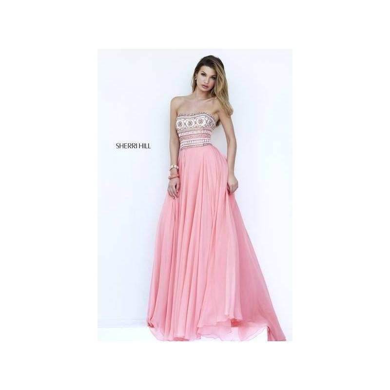 Hochzeit - Sherri Hill 11175 Melon/Multi Dress - Prom Sherri Hill Dress - 2017 New Wedding Dresses