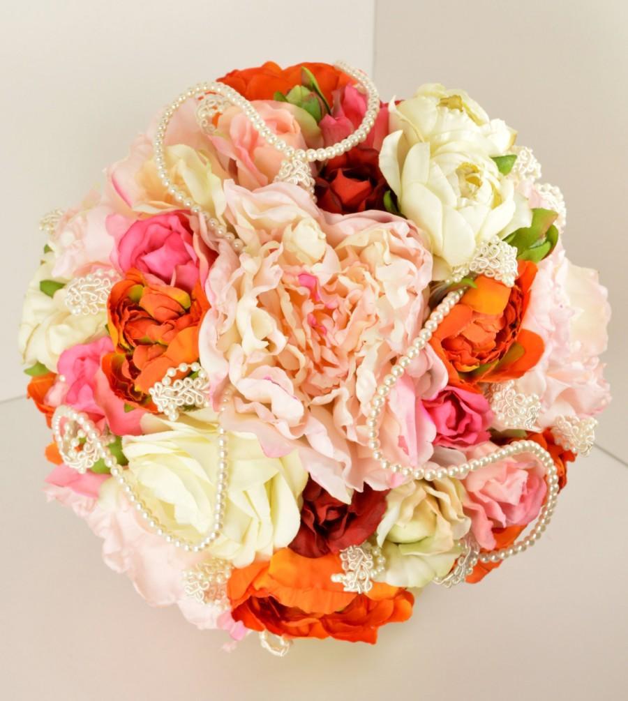 Hochzeit - Wedding Bouquet ..... Romantic Bouquet with a Burst of Color !!