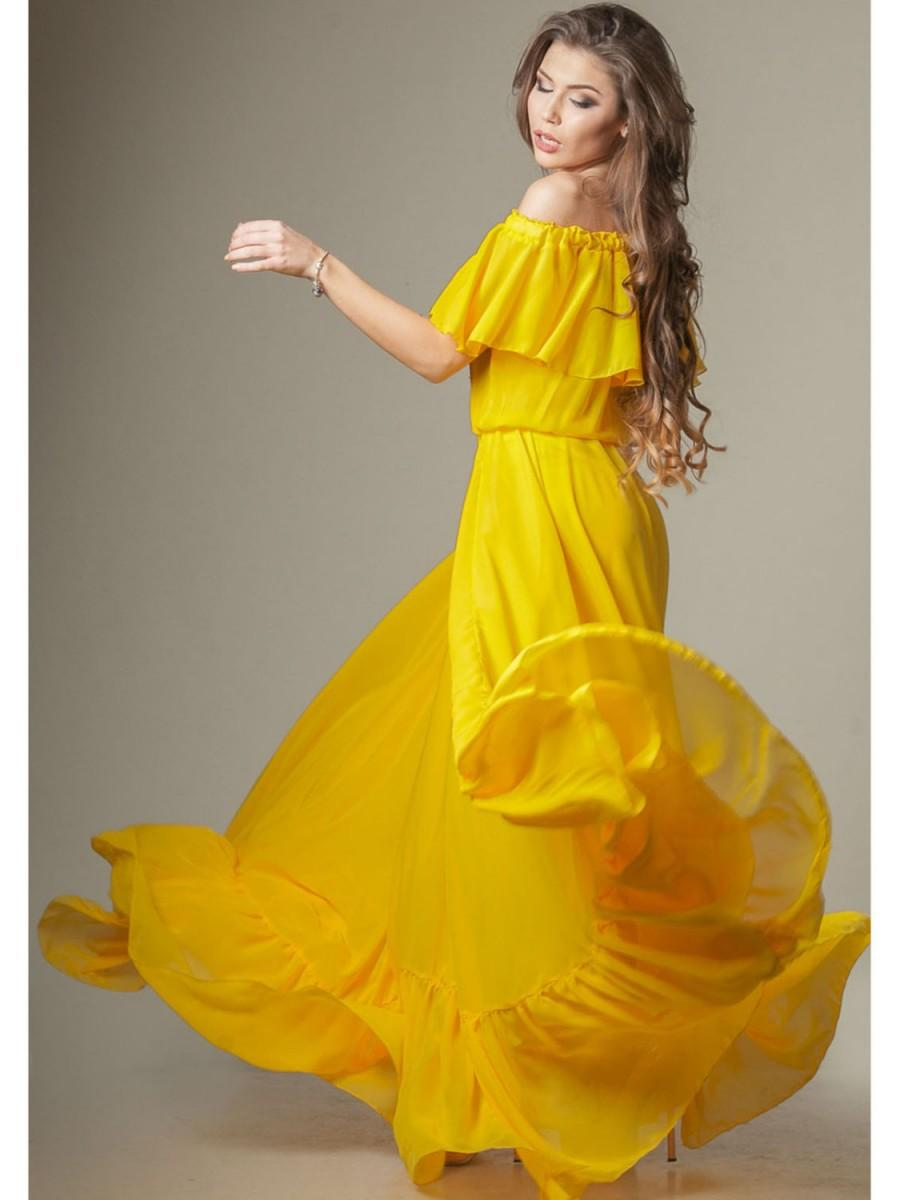 Floor Length Chiffon Dress