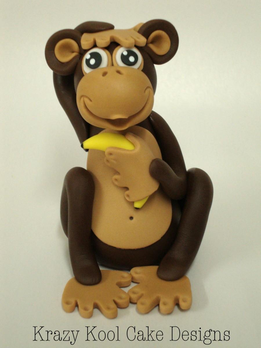 Hochzeit - Monkey Cake Topper