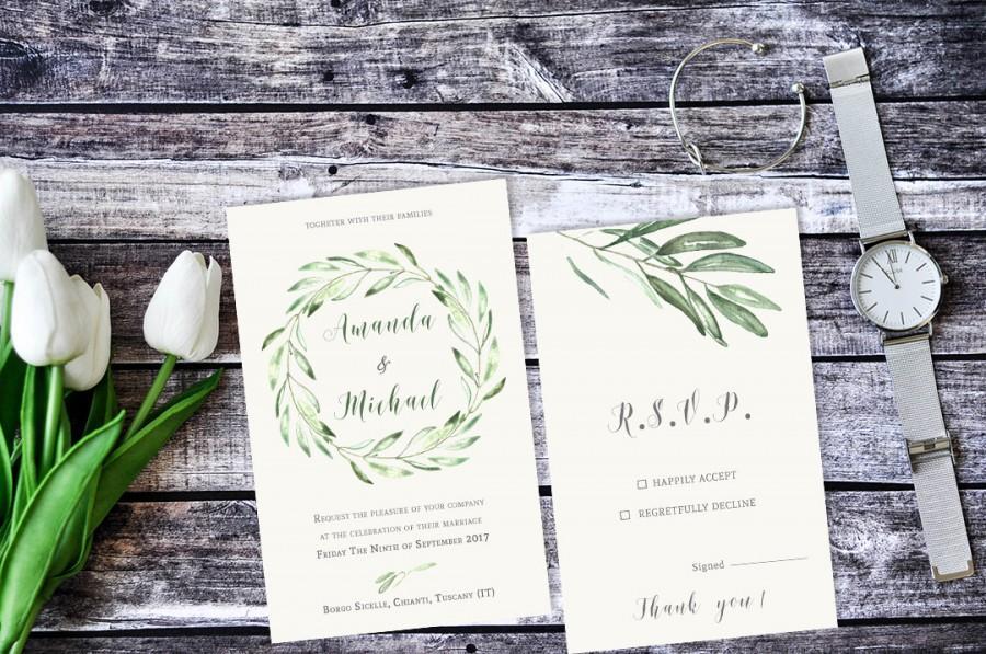 زفاف - Olive Branch Invitation