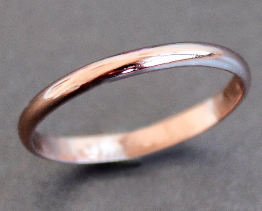 14K Solid ROSE Gold Ring