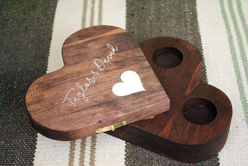 Hochzeit - Personalized  Ring Box, Ring Bearer Box, Ring Bearer Pillow Alternative, Personalized Ring Box, Ring Box for Wedding, Ring Bearer