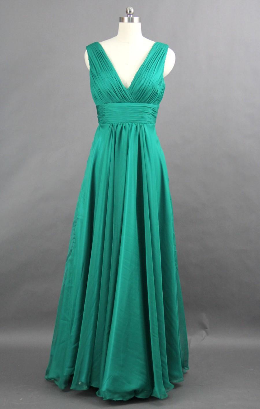 "Wedding - Short/Knee-length Versions of ""A-line V-neck Floor-length Chiffon Bridesmaid Dress, Formal Evening Dress"", Short Prom Dress"