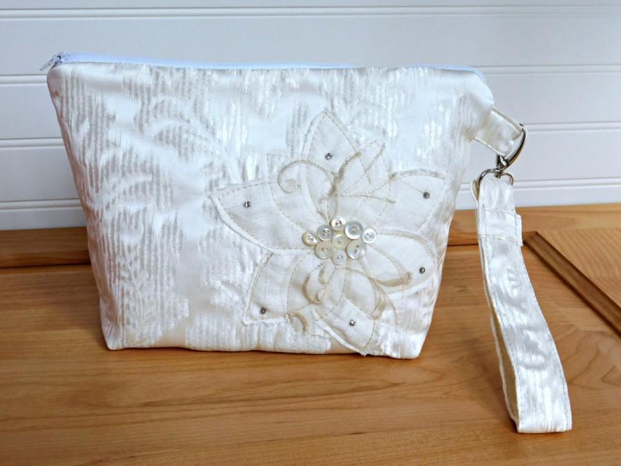 Mariage - White Clutch Purse, Wedding Clutch Bag, Wedding Purse, White Bridal Bag, Bridal Purse, White Bridal Clutch, White Handbag, White Purse