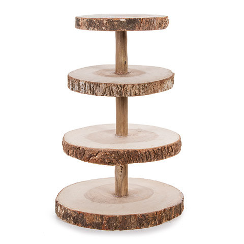Hochzeit - Wood Cup Cake Stand-16 Inches High, On Sale Now!!