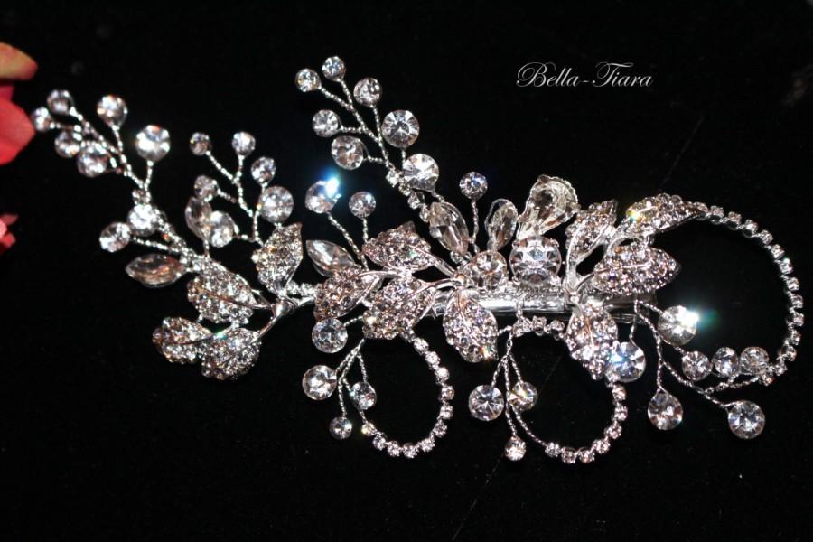 Mariage - Crystal wedding hair clip, bridal crystal hair comb, wedding silver hair clip, wedding hair accessory, wedding hairpiece, wedding hair pin