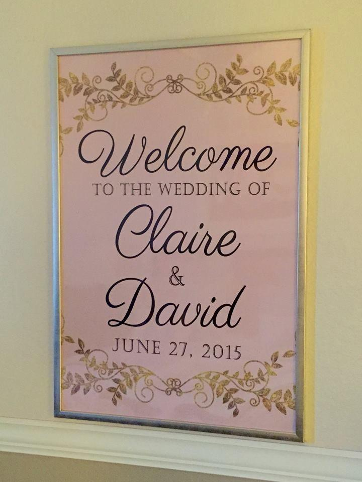Hochzeit - Blush & Gold Wedding Welcome Poster - Faux Gold Foil - 11x17 - 18x24 - 24x36 - DIY Digital File