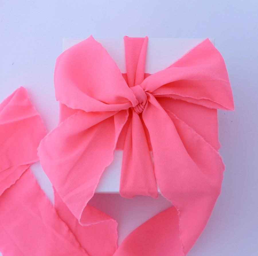 Flamingo Pink Ribbon. 3\