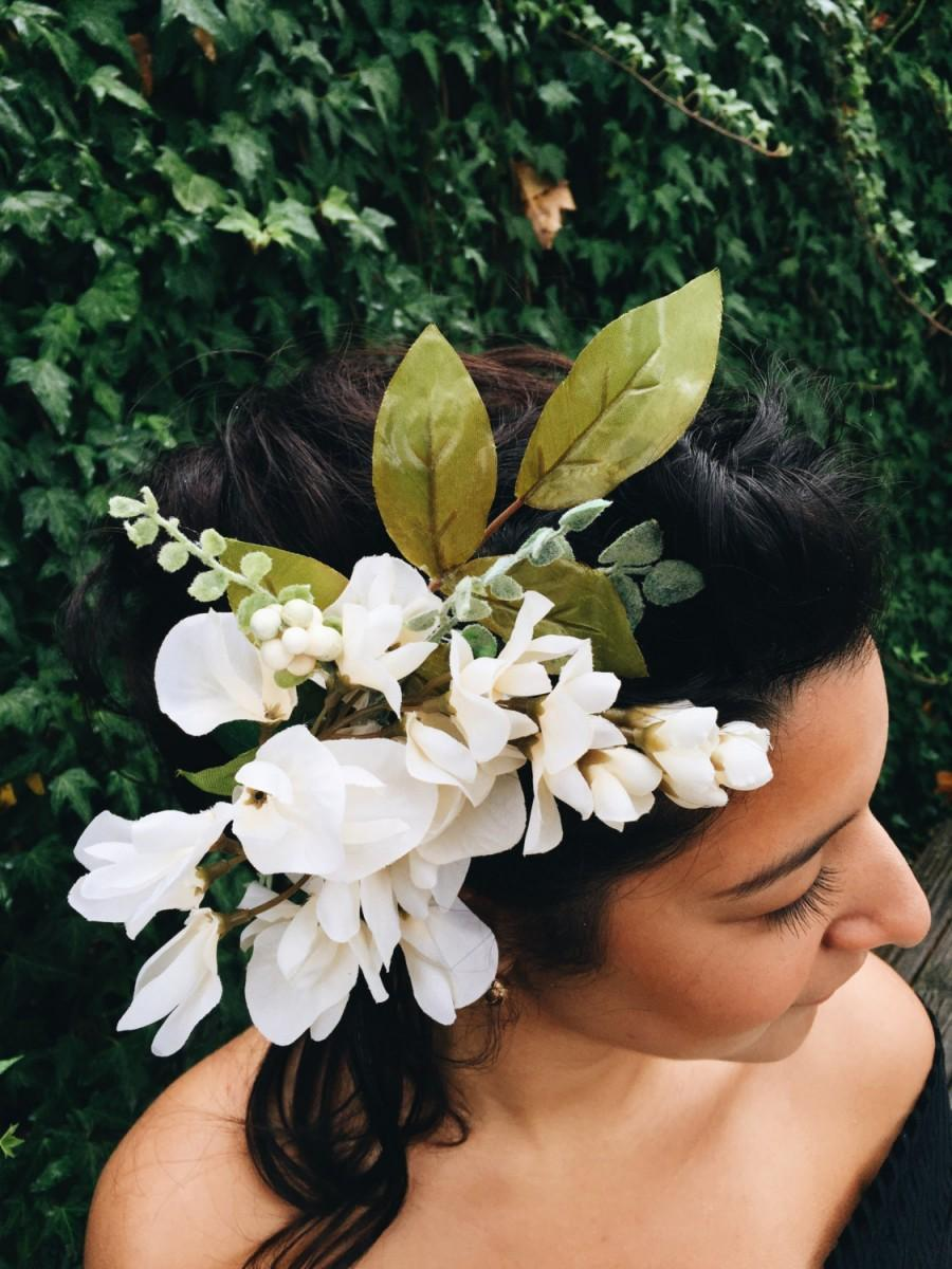 Mariage - Bridal Hair Comb, Bridal Accessories, Woodland, Veil, Birdcage, Retro Headpiece, Flower Comb, Wedding Veil, Birdcage Veil, Bride, Silk, Lace
