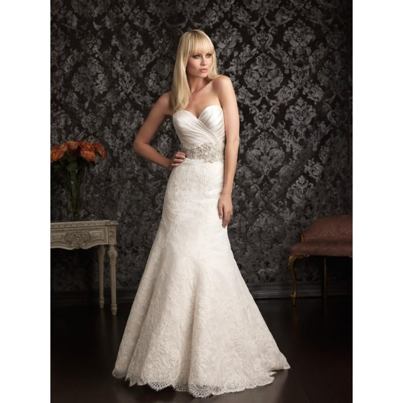 Allure Bridals 9004 Fit & Flare Lace Bridal Dress - Crazy Sale ...