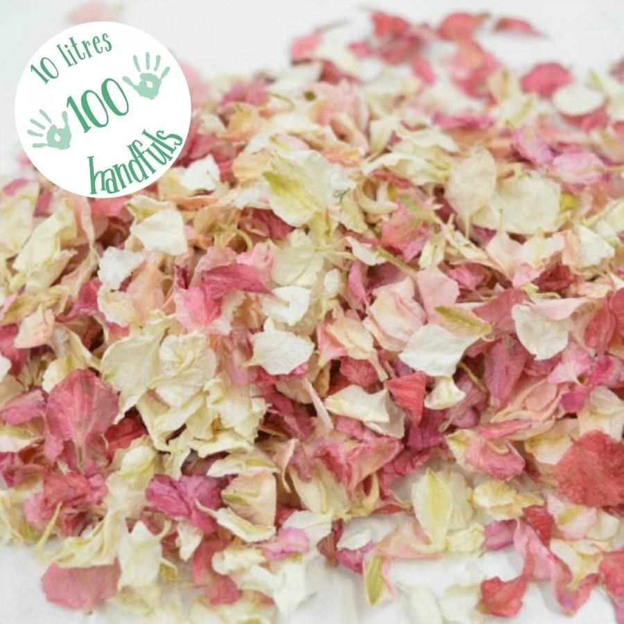 Wedding - 10 Litres approx 100 guests Natural Wedding Confetti Eco-Friendly Biodegradable Dried Delphinium Petals Blush Pink