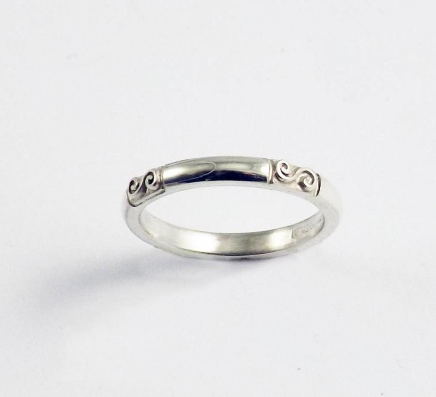 Mariage - Silver Celtic Traditional Irish Spiral Ring