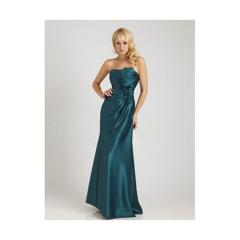 Wedding - Graceful Sheath/Column Strapless Floor-length Satin Bridesmaid Dress In Canada Bridesmaid Dress Prices - dressosity.com