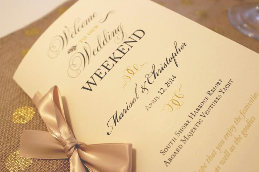 welcome wedding booklet gold wedding programs wedding welcome letter wedding timeline welcome bag booklet gold wedding welcome sample
