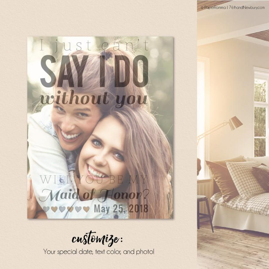 Hochzeit - I Can't Say I Do Without You, I cant say I do without you gift, Cant say I do without you proposal, Print or Canvas // W-Q02-1PS AA9 OP12