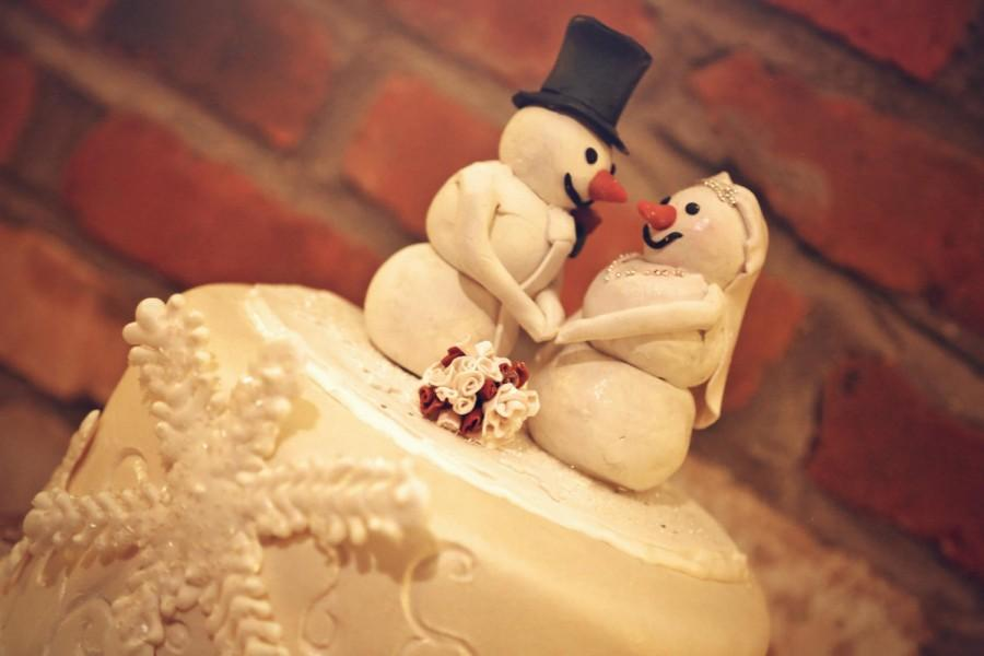 Snowman Wedding Cake Topper; Customized Snowman Wedding Topper ...