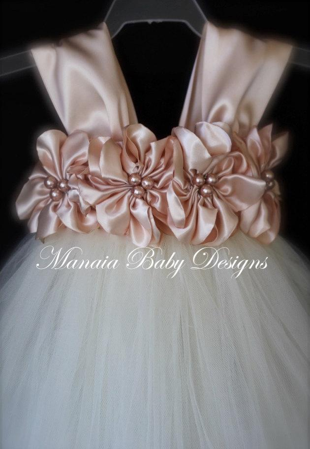 Mariage - COLOR OF DRESS Can Be Changed! / Blush Flower Girl Dress / Blush Flower Girl Tutu Dress / Blush Dress