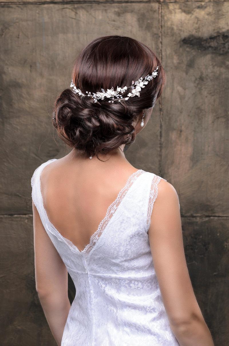 Свадьба - Bridal hairpiece Wedding hairpiece Bridal headpiece Wedding headpiece Wedding hair accessories Bridal headband Bridal hair piece Flower hair