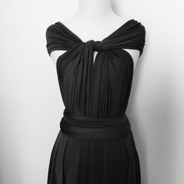 Black Infinity Dress Convertible Formalwrap Dress Bridesmaid Dress