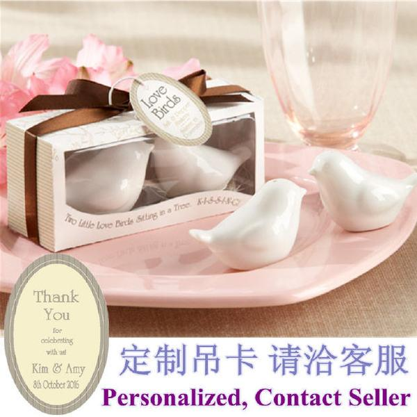 Hochzeit - Beter Gifts®訂婚 定制愛情小鳥調味瓶派對小禮物TC026胡椒瓶創意婚禮小回禮