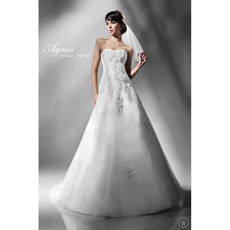 Mariage - Agnes 10833 Agnes Wedding Dresses Platinium Collection - Rosy Bridesmaid Dresses