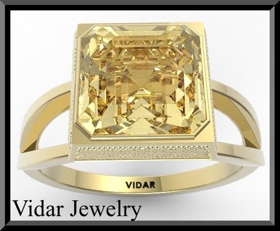 Wedding - Engagement Ring,Yellow Engagement Ring,Citrine Engagement Ring,Engagement Ring,Unique Engagement Ring,Bridal Wedding Ring.
