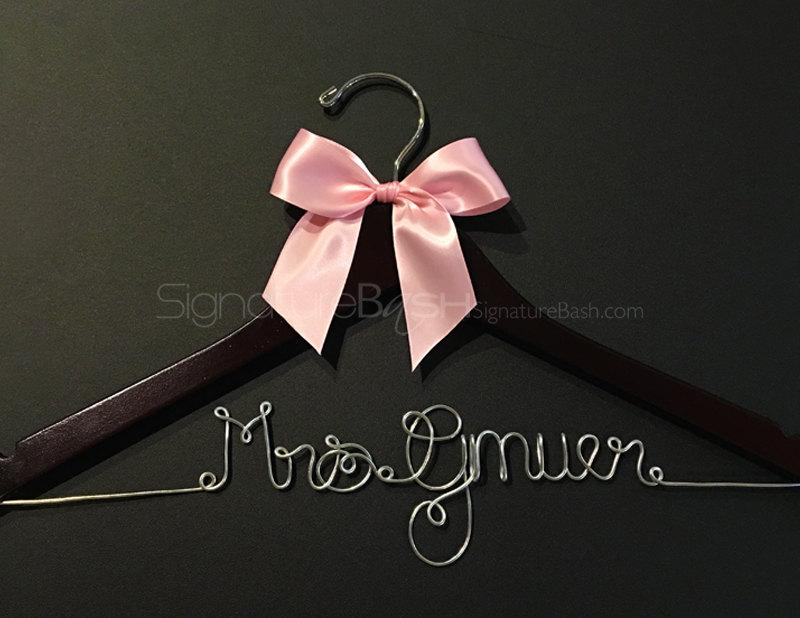 Mariage - Sale Today Only!! Bridal Hanger with Ribbon / Wedding Hangers BLOW-OUT / Custom Bridal Hangers / Personalized Wedding Hangers