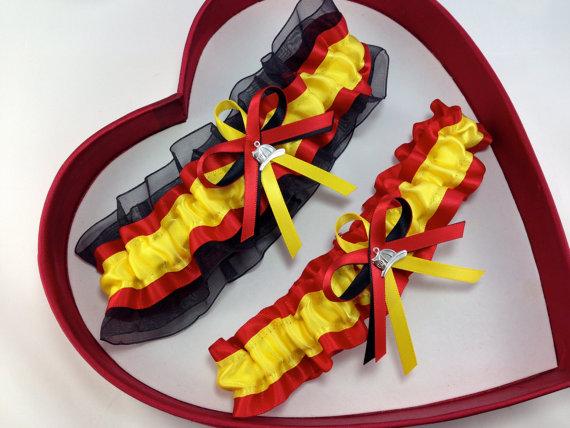 Wedding - New Yellow Red Black FireFighter Fire Man Wedding Garter Prom GetTheGoodStuff