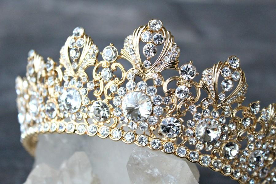 Wedding Crown Full Bridal Crown Swarovski Crystal Wedding Crown