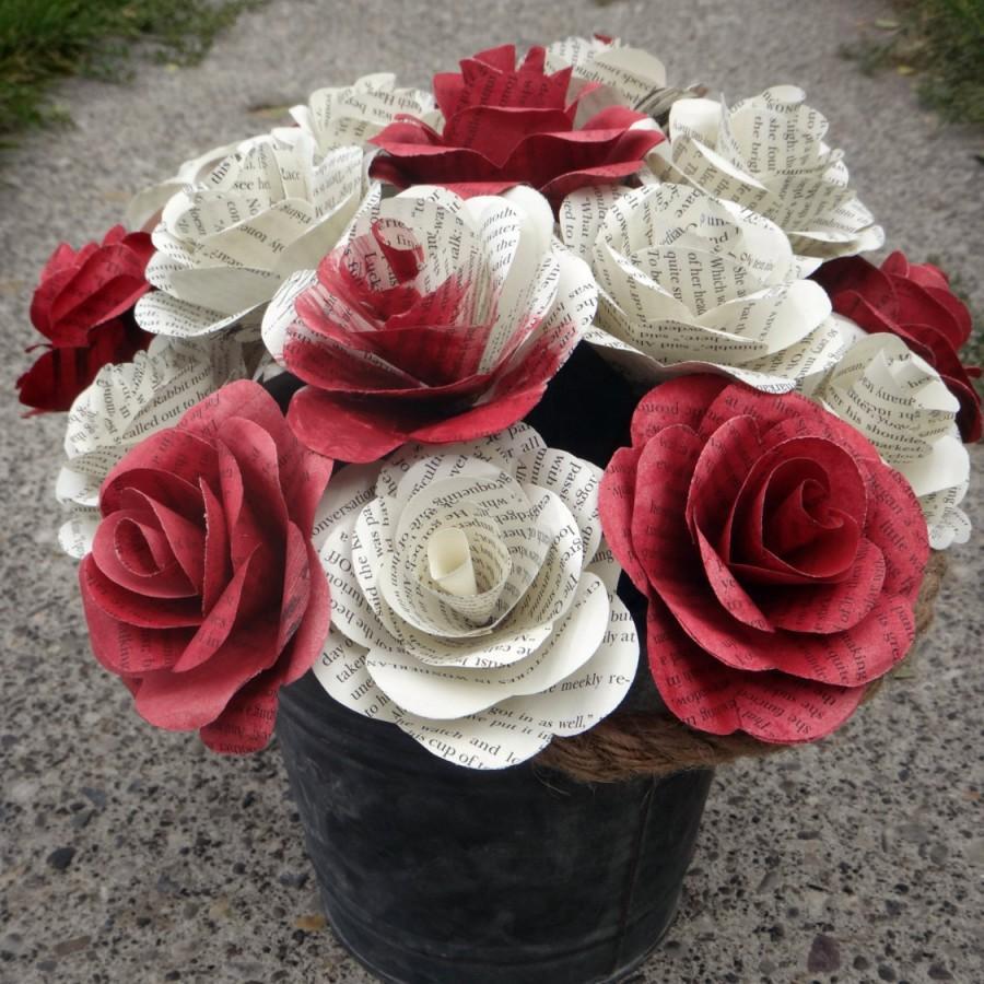 زفاف - Alice In Wonderland Book Page Flowers, Literary Roses