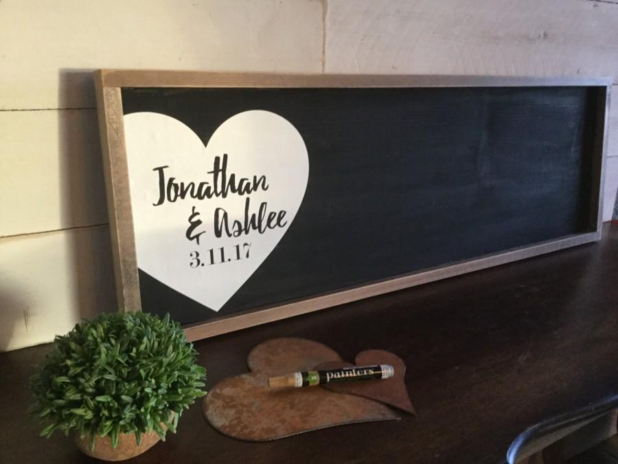 Mariage - Wedding Guest Book Alternative - Rustic Wedding Sign - Wedding Guestbook - Personalized Wedding Sign - Wood Guestbook