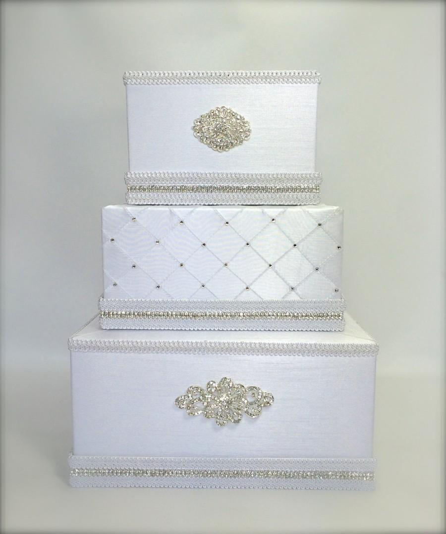 Wedding Card Box Classic White Or Ivory Wedding Card Holder With ...