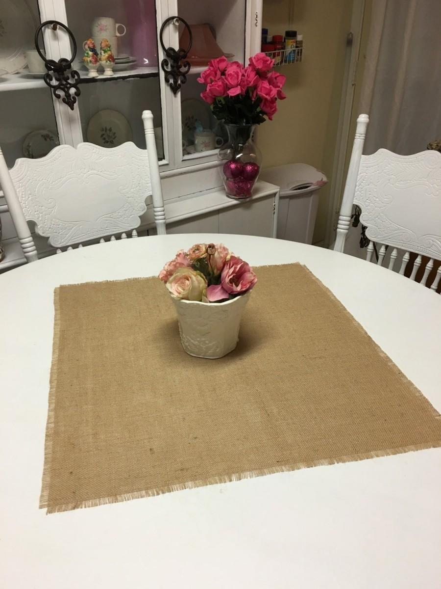 Mariage - Burlap Table Squares-Burlap Table Covers-Select Your Size and Amount Needed-Natural or Ivory-Rustic Burlap Squares