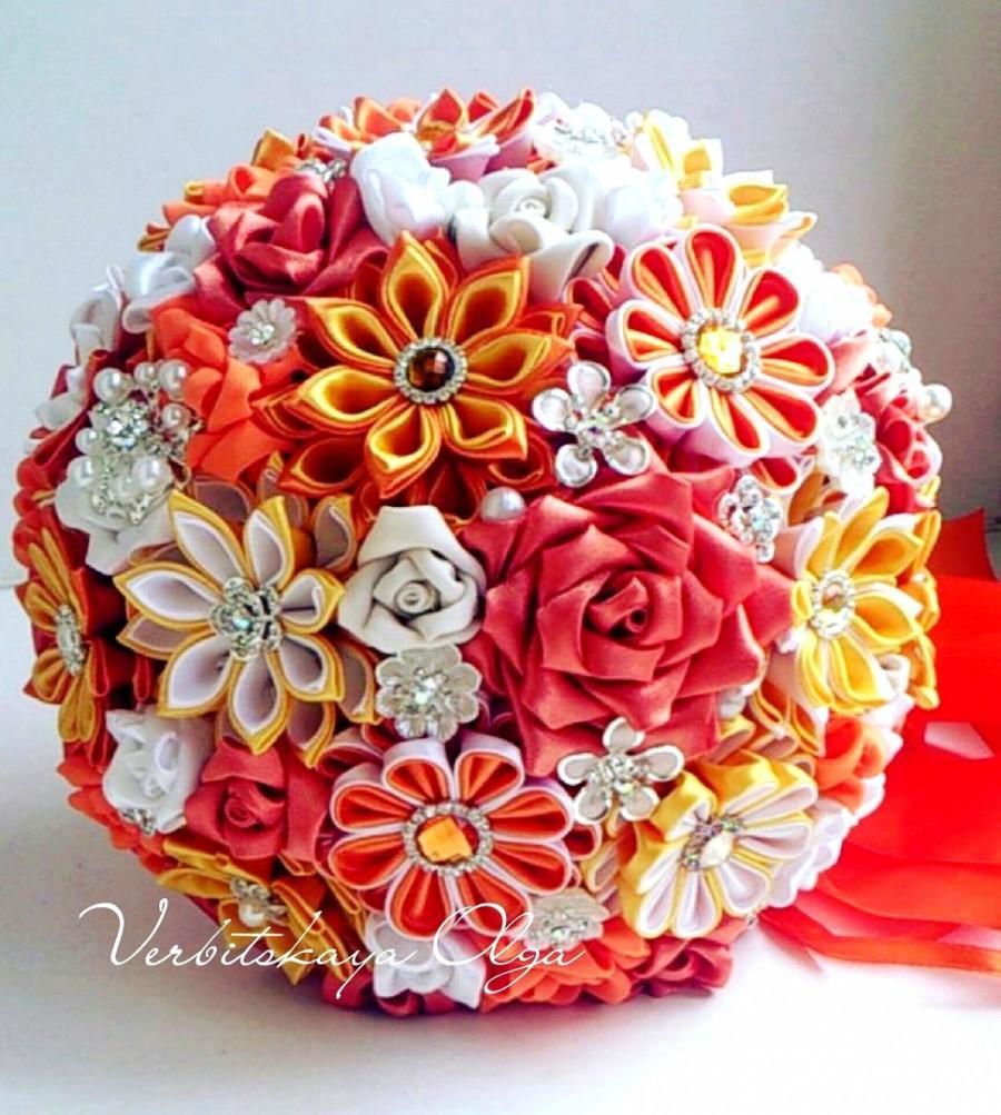 Свадьба - Bridal bouquet  -  wedding  brooch bouquet, orang bouquet